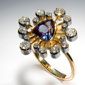 Gold, diamonds, spinel