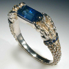 White gold, brilliants, sapphires, spinel