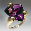 The ring. Gold, amethyst. $1500.